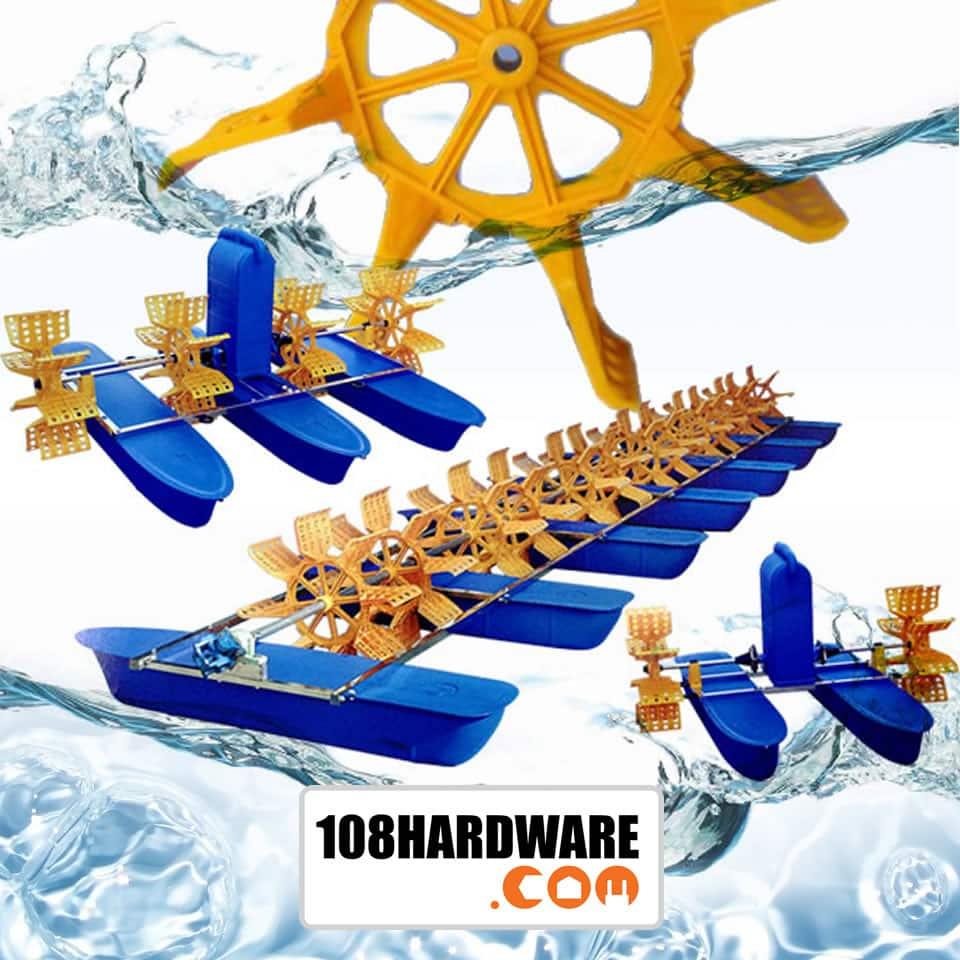เครื่องตีน้ำ เครื่องเติมอากาศ Oxygen ใบพัดตีน้ำ ชุดตีน้ำ paddle wheel ชุดตีน้ำในบ่อ
