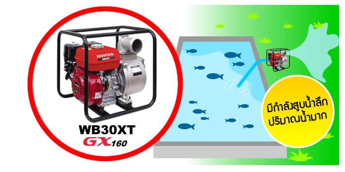 WB30XT ใช้สูบน้ำกับงานชลประทาน ร่องน้ำ