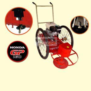 รถตัดหญ้า BES 2 ล้อจักรยาน (ล้อลมใหญ่) พร้อมเครื่องยนต์ HONDA GP160