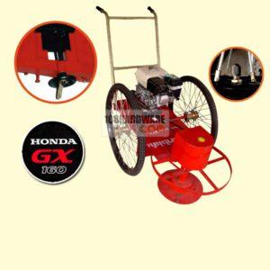 รถตัดหญ้า BES 2 ล้อจักรยาน (ล้อลมใหญ่) พร้อมเครื่องยนต์ HONDA GX160