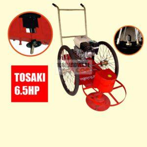รถตัดหญ้า BES 2 ล้อจักรยาน (ล้อลมใหญ่) พร้อมเครื่องยนต์ TOSAKI 6.5 HP