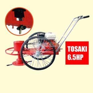 รถตัดหญ้า BES 2 ล้อจักรยาน (ยางตัน) พร้อมเครื่องยนต์ TOSAKI 6.5 HP