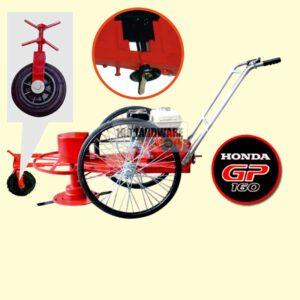 รถตัดหญ้า BES 3 ล้อจักรยาน (ยางตัน) พร้อมเครื่องยนต์ HONDA GP160