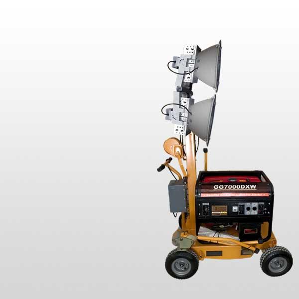 ทาวเวอร์ไลท์ เครื่องปั่นไฟพร้อมไฟส่องสว่าง 4ดวง ความสว่าง 300w ปั่นไฟขนาด 5KVA